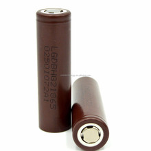 Wholesales price !! lg hg2 3000mAh 20A amp 3.6V 18650 rechargeable battery color chocolate lg hg2 18650 battery use for big mod