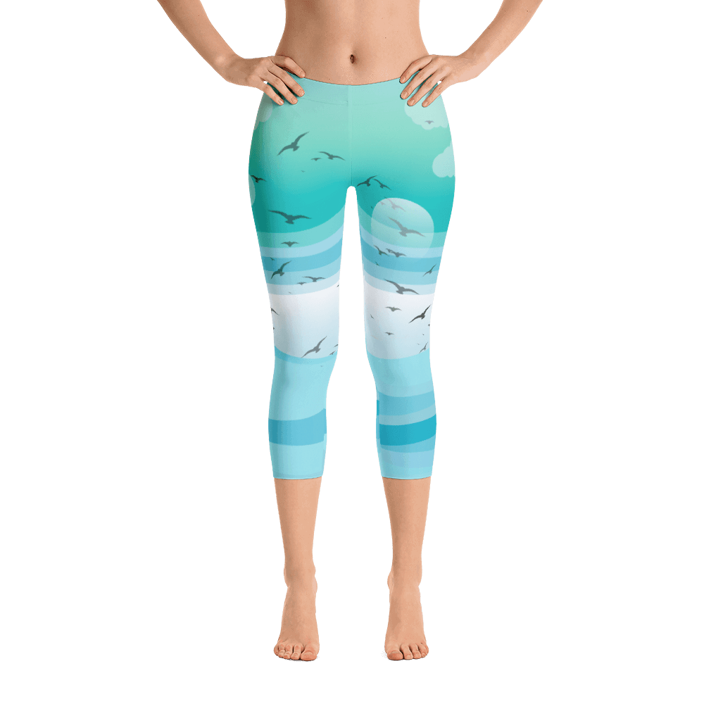 Custom Made Compression Tights Womens Activewear Yoga Leggings Printed Workout Capri