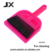 micro plastic dustpan broom with small cleaning brush for household bathroom kitchen cleaning