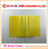 China wholesale school stationery custom a4 size frosted plain color hard plastic pp book cover