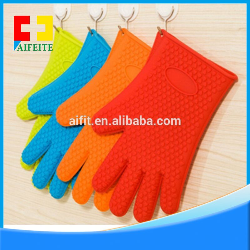 Heat resistant cooking tool kitchen silicone gloves