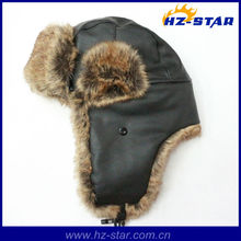 HZM-13862 Hot sale faux fur fashion winter warm hat with earflap