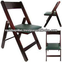 Folding wooden chair and event furniture