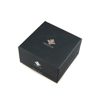 Handmade magnetic closure gift boxes small black gift box wholesale