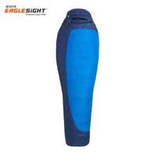 Flannel lined walking thermal organic cotton hollow fiber inflatable sleeping bag