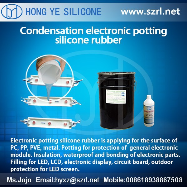 transparent condensation cure potting silicones for electronic enclosures