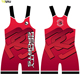 cheap custom sublimated pink wrestling singlets