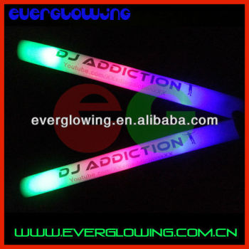 led foam stick with clear sticker logo