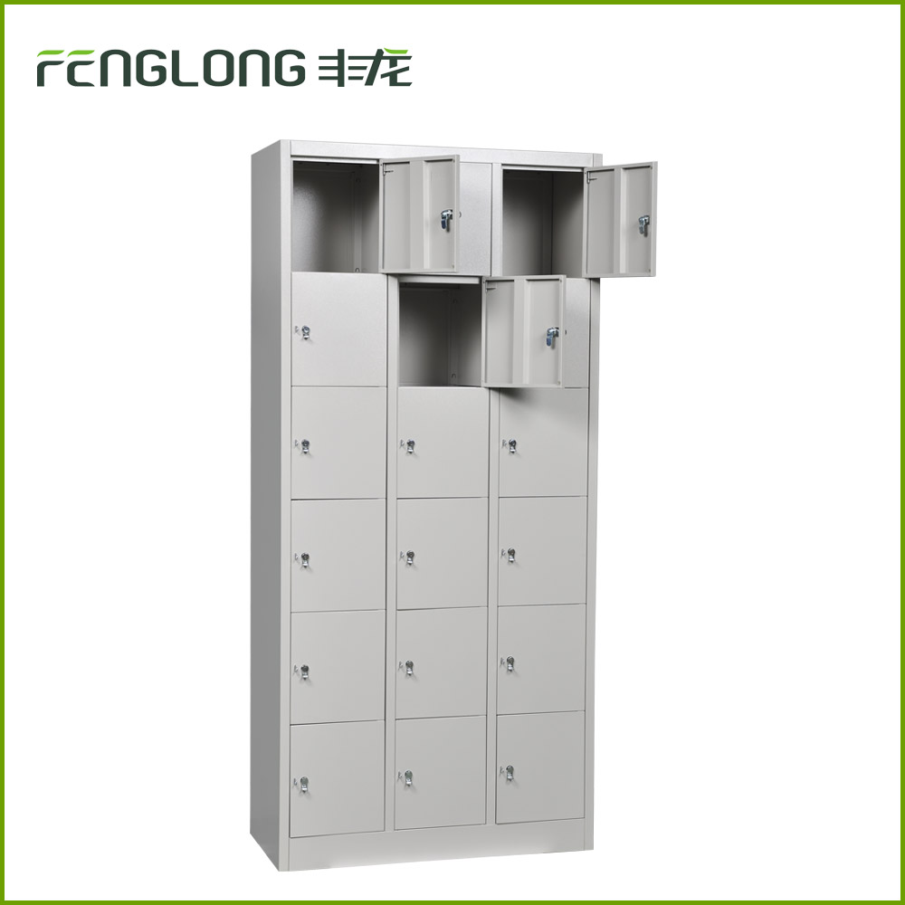Custonized gym super market pigeon holes multi door 18 tie for 18 door locker
