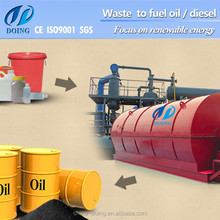 tyre diesel pyrolysis plant/plastic pyrolysis to oil machine fully automatic tyre pyrolysis plant