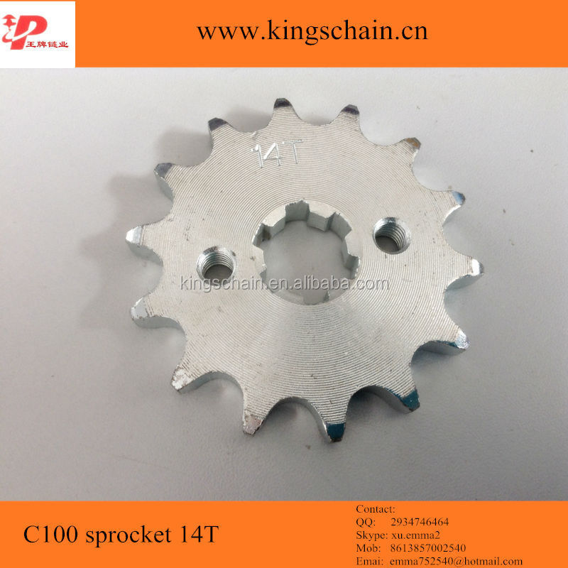 Motorcycle accessories 1045 and 1023 <strong>C100</strong> 14Teeth sprocket <strong>chain</strong> wheel