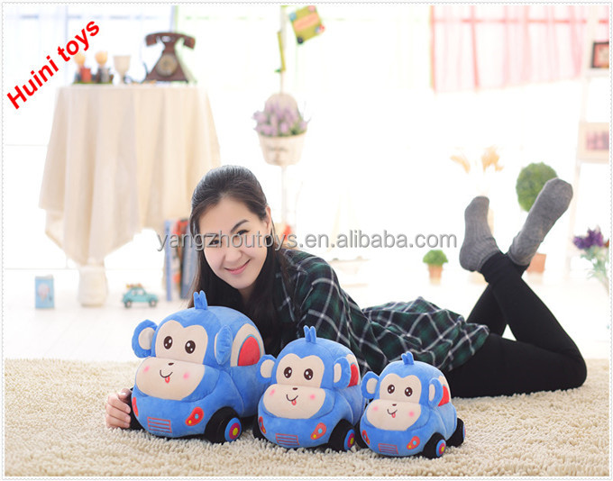 china golden supplier plush cartoon animal <strong>monkey</strong> car toy