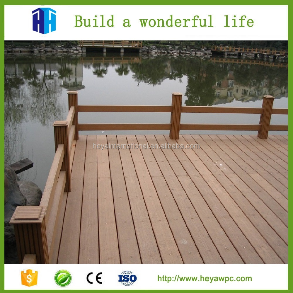 HEYA superior quality exterior exotic wood plastic patio floors for sale