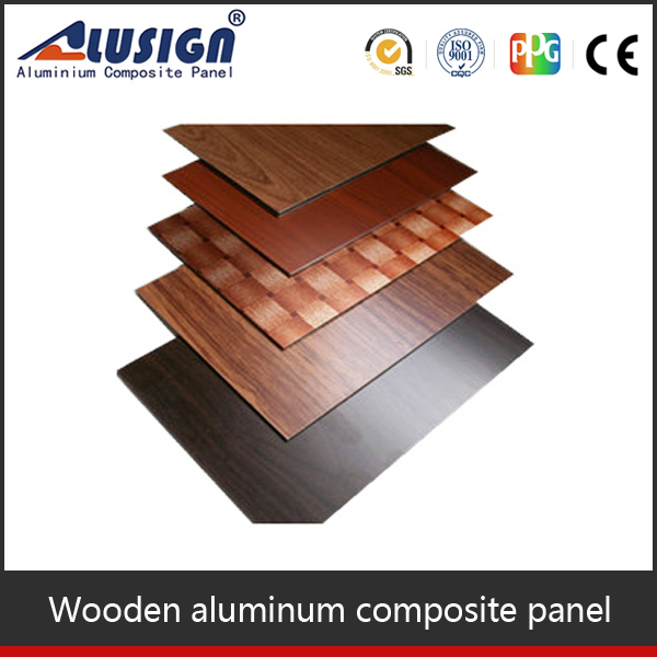 3mm 4mm wooden stone grain aluminium composite panel exterior wall decorative board acp board