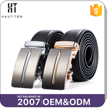 High Quality Custom Man Business Black Genuine Cow Split Leather Belts Fashion Popular Alloy Automatic Buckle Belts For Men
