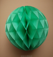 6 Inch Green Honeycomb Paper Balls Event and Party Supplies