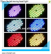 72*3w tricolor moving head wash led