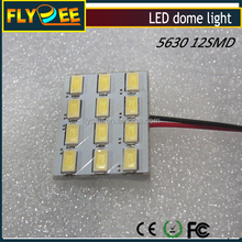 Car Panel LED lamp PCB 18SMD 5630 chip Car Interior Dome Reading Light Bulbs Adapter
