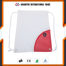Guangyue China Bulk Polyester Gym Drawstring Sports Bags With Front Mesh Pocket