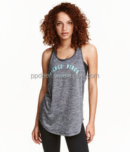 2016 new design high fashion quick dry racer back women's sports tank top