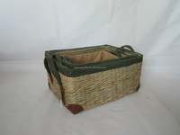 straw storage basket