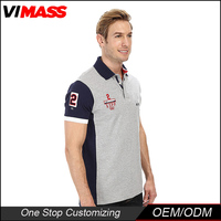 Popular new products embroidered polo shirt cotton custom printing polo shirt design