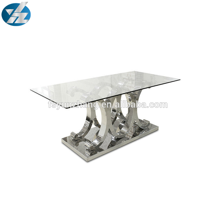 New Design Beautiful Wedding Stainless Steel Dining Table