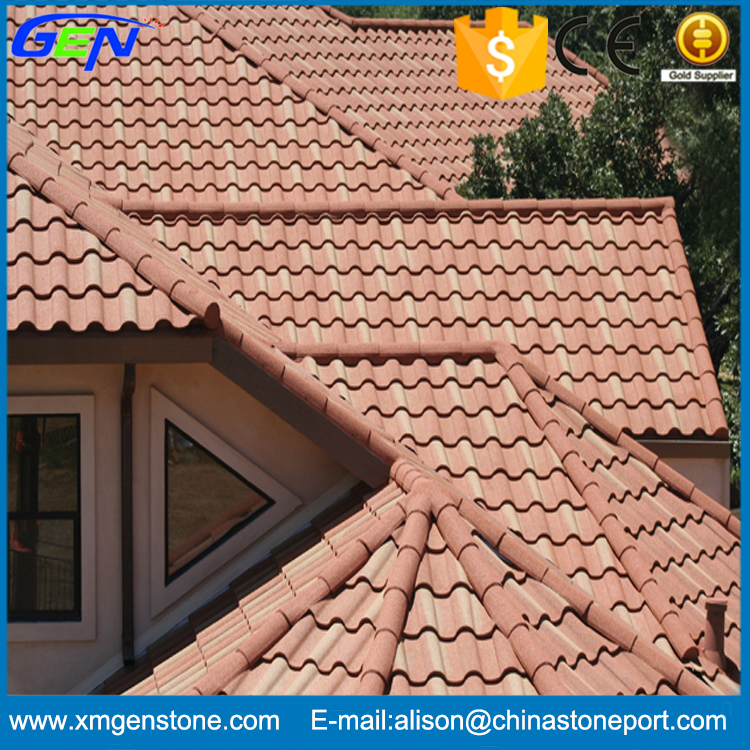 Chinese Wholesale Red Clay Coated Roof Tile