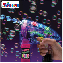new arrivaL Light Up LED Transparent Bubble Gun Blaster Toy