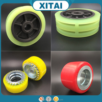 Factory Supplier OEM Service Shore 90A 92A 95A 72D 75D PU and wheel hub strong adhesion high quality pu wheel