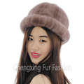 CX-C-197A 2016 Women Winter Real Mink Caps And Hats New