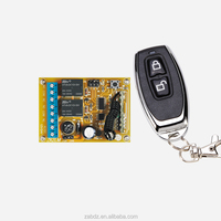 Universal 2 keys metal case wireless remote control 100m learning code 2 relays 12V/24V wireless receiver(ZK2LM+ZY16-E)