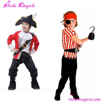 Kids Pirate With Shirt Pants Scarf Belt Eyecup Halloween Costumes For Kids