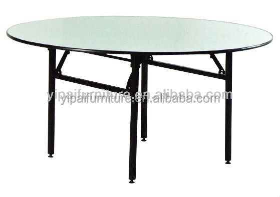 Melamine folding round table yt15 buy restaurant table for Table cuisine retractable