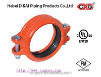 FM ductile cast iron grooved pipe fittings and Flexible Grooved Coupling
