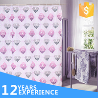 2016 Summer New Fashion Design 100% Polyester Luxury Shower Curtain