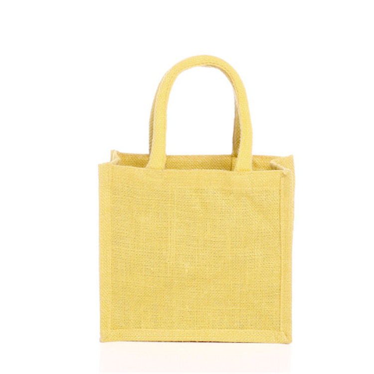 China Good Quality Ladies Plain Jute Carry Shopping Bag