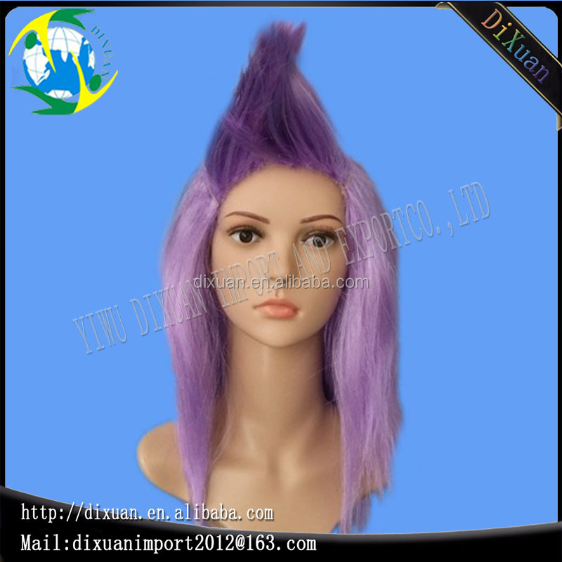2016 Long straight purple hair Hot sale full baby wigs