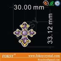 shining cross hot fix rhinestone iron on transfer