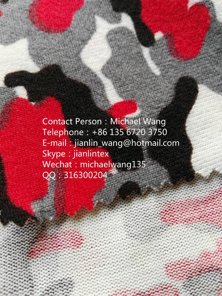 Coarse Needle Brushed Fleece Knitted Sweater Fabric