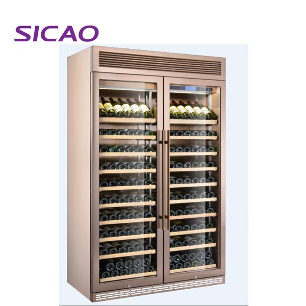 Four doors 2270L 704 bottles wine beer drinks display showcase