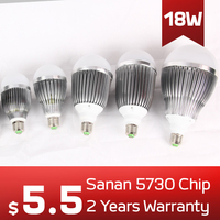 Low Price High Quality Aluminum LED Light Bulb E27/B22 18W