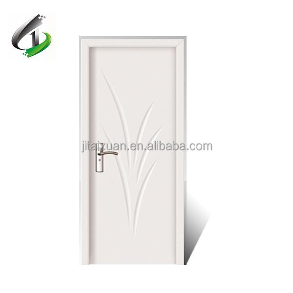 Australian White Pvc Coated Interior Mdf Wood Flush Door Design For