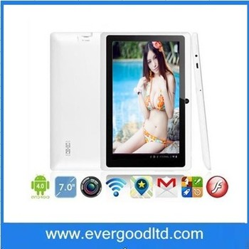 Hot Selling 7inch AllWinner A23 Q88 Tablet PC 5 Points Touch Screen Capacitive Screen with WIFI Two Cameras