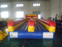 Athletic Inflatable Bungee Run 2 lanes, Kids inflatable bungee run,Runway