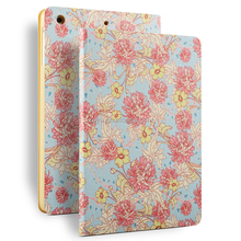 Pink Flowers 10inch leather tablet cover case for ipad air 2