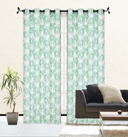 2pcs Embroidery Customized Color Window Curtain with Lining