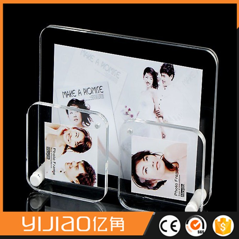 Magnetic Clear plastic photo frame picture photo frame