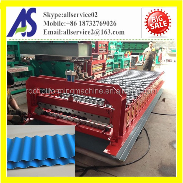High quality Color Metal Steel Corrugated Roofing Sheet Roll Forming Machine Line