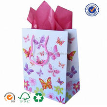 U color Customized poly lined paper bag